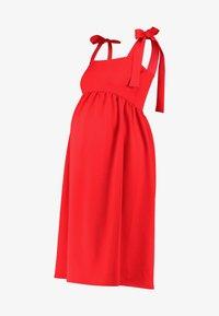 True Violet Maternity - PLUNGE BACK SKATER DRESS WITH BOW DETAIL - Sukienka z dżerseju - red - 5