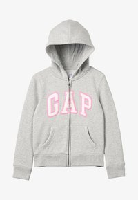 GAP - GIRLS ACTIVE LOGO - veste en sweat zippée - heather grey - 3