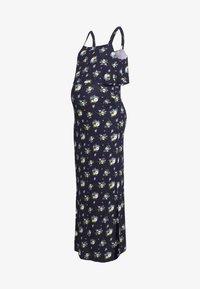 Dorothy Perkins Maternity - MATERNITY FLORAL SLEEVELESS LAYERED DRESS - Sukienka z dżerseju - navy - 0