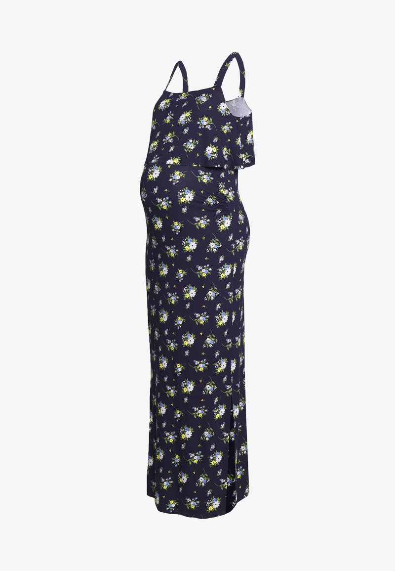 Dorothy Perkins Maternity - MATERNITY FLORAL SLEEVELESS LAYERED DRESS - Sukienka z dżerseju - navy