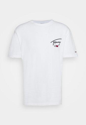 COLLEGIATE BACK LOGO TEE - T-shirt med print - white