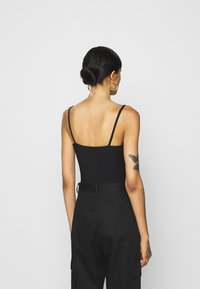 Missguided - RUCHED BUST STRAPPY BODYSUIT - Top - black - 2