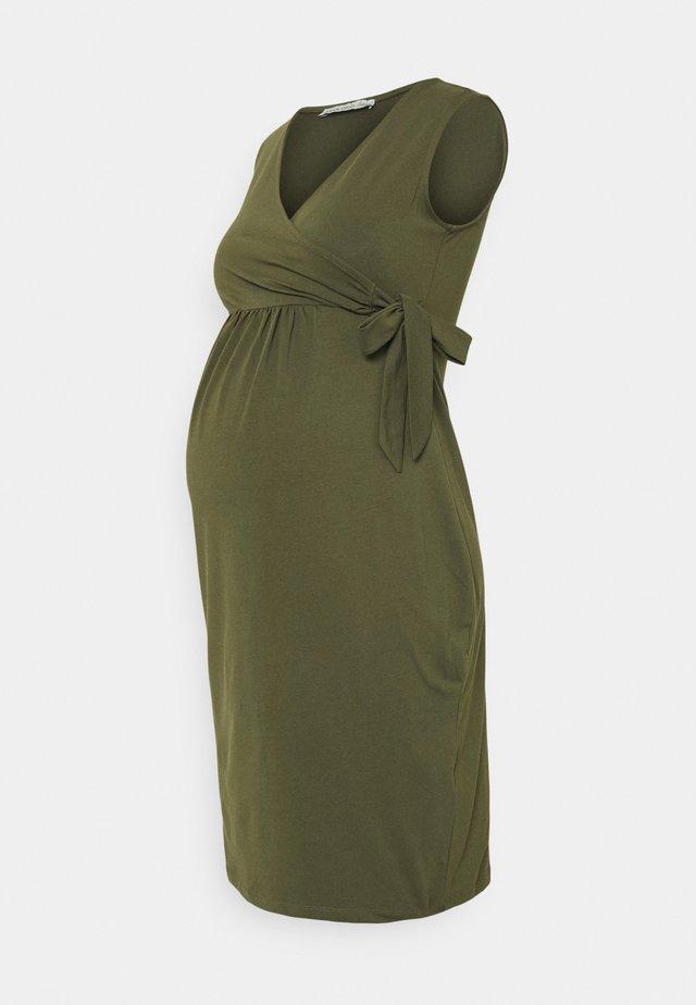 Sukienka z dżerseju - olive
