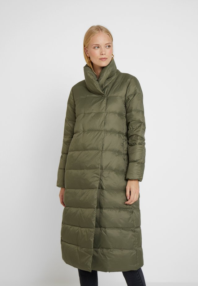 Down coat - burnt olive