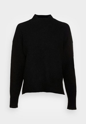 LONG SLEEVE HIGH NECK AND DROPPED SHOULDER - Maglione - black