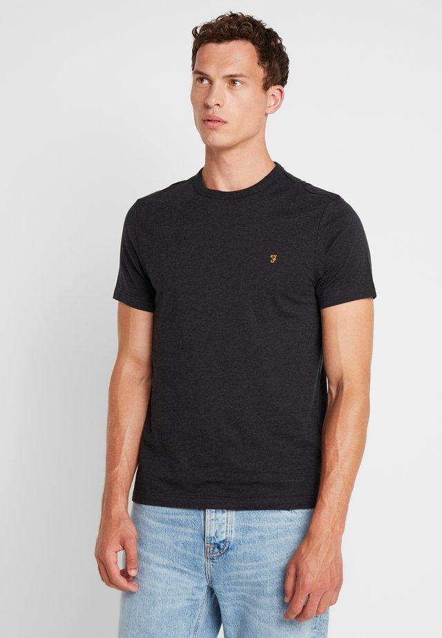 DENNIS SOLID TEE - Print T-shirt - black marl