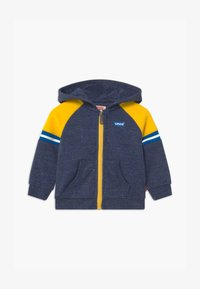 Levi's® - COLORBLOCK FULL-ZIP HOODIE - Sweatjakke /Træningstrøjer - dark blue/yellow - 0