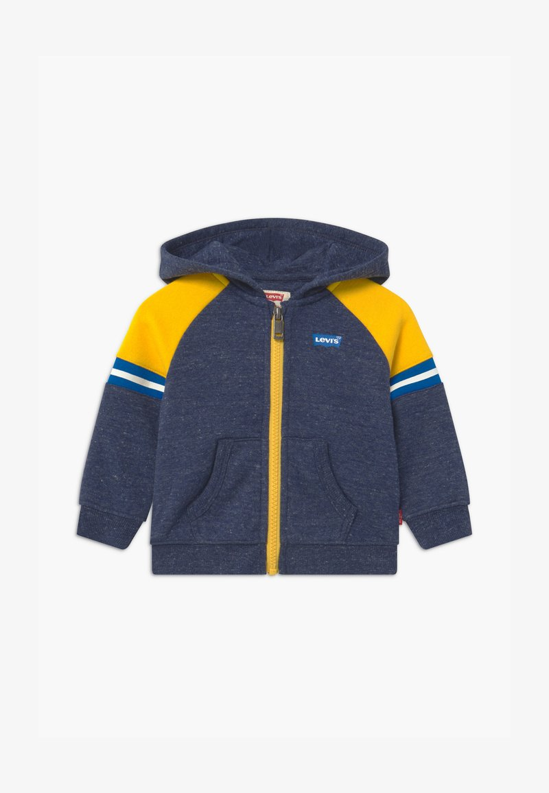 Levi's® - COLORBLOCK FULL-ZIP HOODIE - Sweatjakke /Træningstrøjer - dark blue/yellow