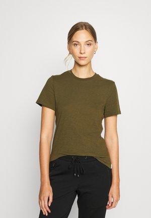 SHORT SLEEVE CREW NECK SLIM SILHOUETTE - Basic T-shirt - burnished logs