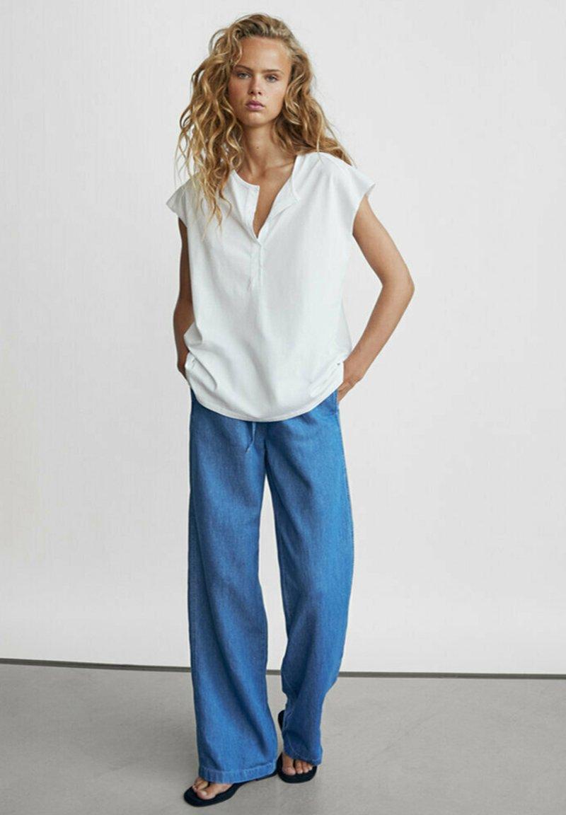 Massimo Dutti - Spodnie materiałowe - dark blue