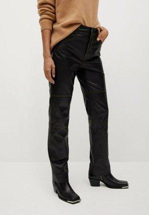 JANDRI-I - Leather trousers - zwart