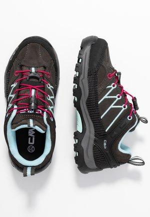 KIDS RIGEL LOW SHOES WP UNISEX - Hiking shoes - arabica/sky light