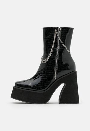 VEGAN - Bottines à talons hauts - black