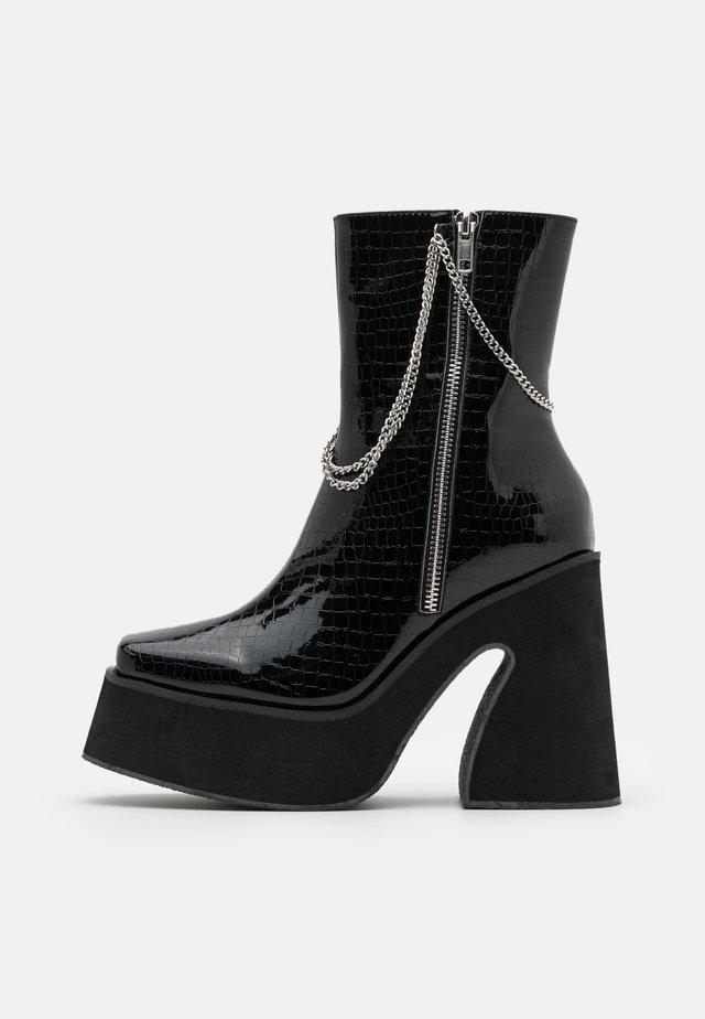 VEGAN - Højhælede støvletter - black