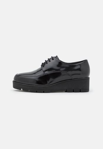 WIDE FIT HENRIETTA - Šněrovací boty - black