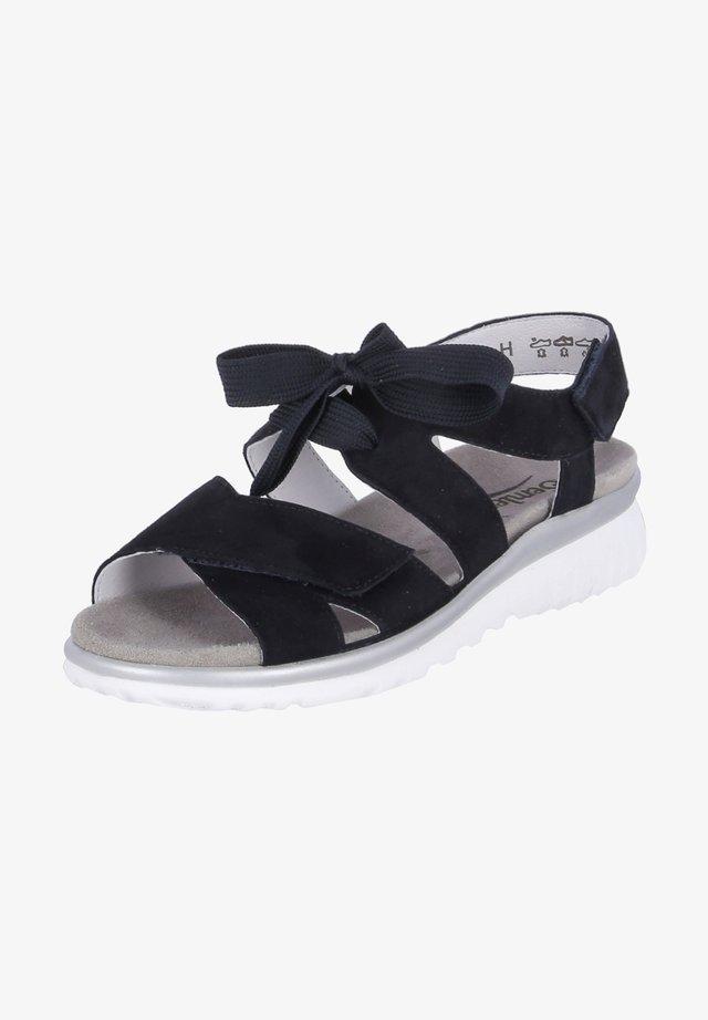LAURA - Wedge sandals - blau