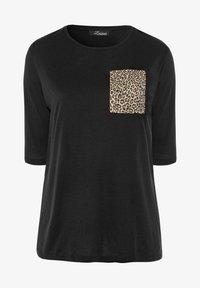 Yours Clothing - Print T-shirt - black - 4