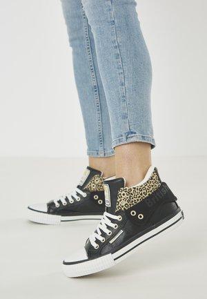 ROCO - Sneakers basse - black/leopard
