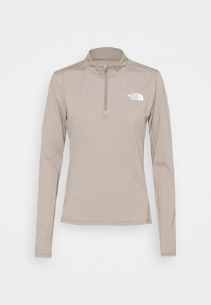 RISEWAY ZIP - T-shirt à manches longues - mineral grey heather