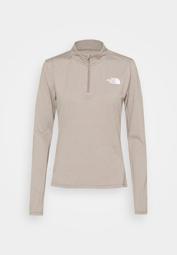 RISEWAY ZIP - Long sleeved top - mineral grey heather