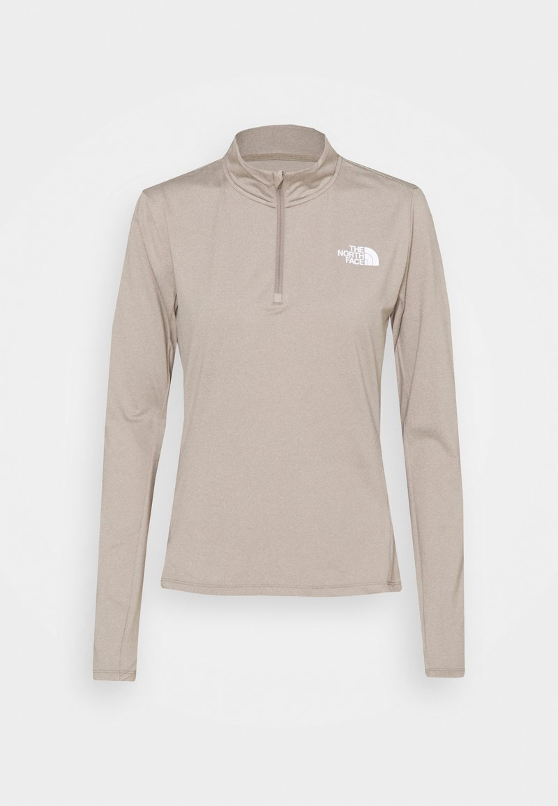 The North Face - RISEWAY ZIP - T-shirt à manches longues - mineral grey heather