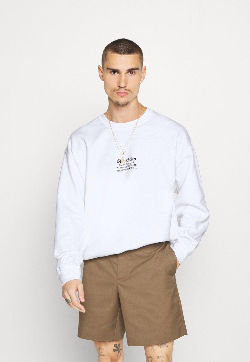 Topman - STOCKHOLM HERITAGE PRINT - Sweater - white