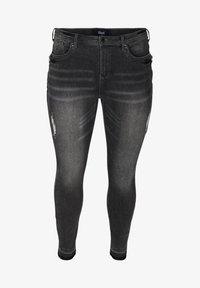 Zizzi - MIT SCHLITZ - Jeans Skinny Fit - grey - 2