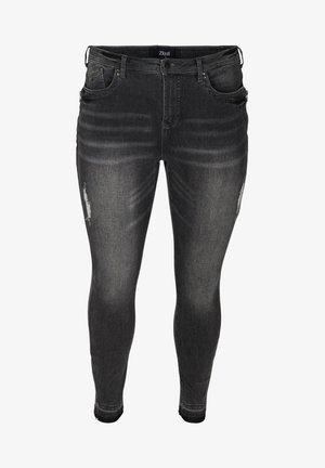 MIT SCHLITZ - Jeans Skinny Fit - grey