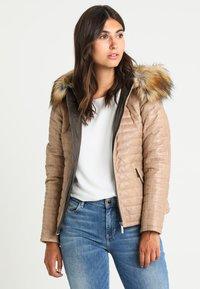 Oakwood - FURY - Leather jacket - dark beige - 0