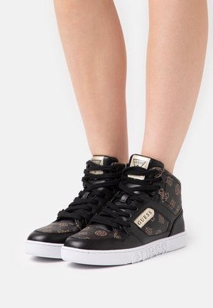 JUSTIS - Sneakers hoog - bronze/black