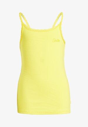 MIT SPITZE - Top - bright yellow