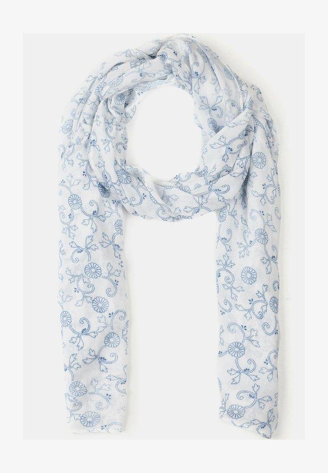 Sjaal - mottled light blue