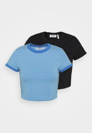GEMINI 2 PACK - Print T-shirt - blue/black