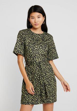 Jersey dress - light green/black