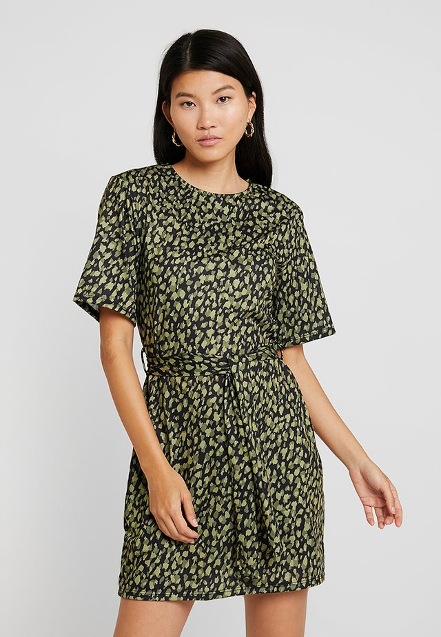 Jersey dress - light green/black