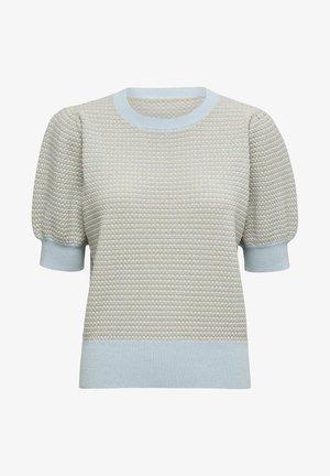 KARLA  - Print T-shirt - powder blue lurex