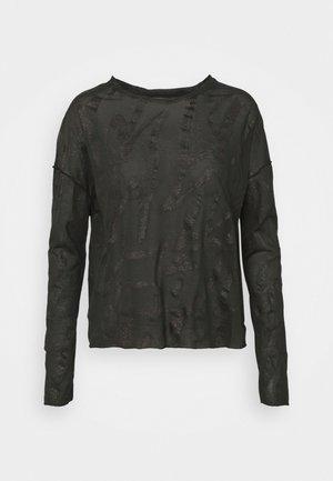 ALLOVER - Long sleeved top - black