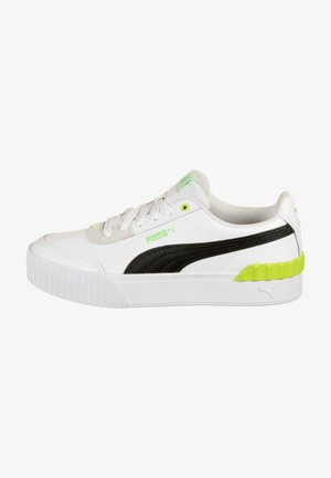 CARINA LIFT  - Trainers - puma black / puma white / sharp green