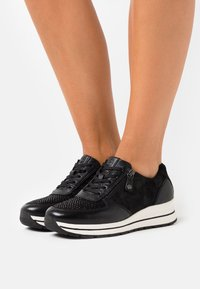 Tamaris Pure Relax - LACE UP - Trainers - black - 0