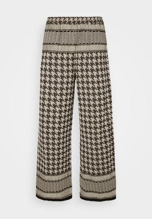 RIKKE PANTS - Trousers - black/cream