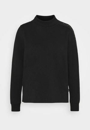 LOGO FUNNEL NECK  - Langærmede T-shirts - black