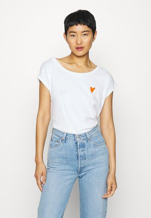 SHORT SLEEVE ROUND NECK - Print T-shirt - off white