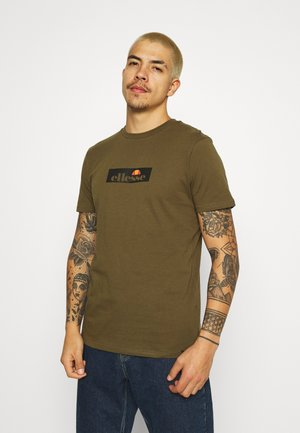 OMBRONO - Print T-shirt - khaki