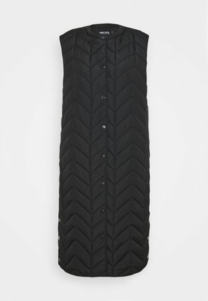 PCFAWN LONG QUILTED VEST - Waistcoat - black