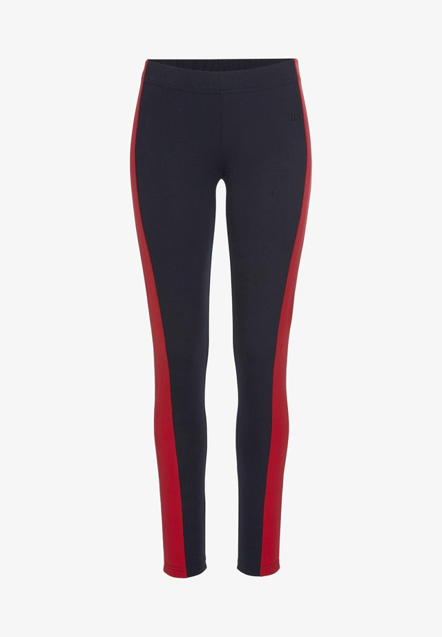 Leggings - navy-rot-weiß