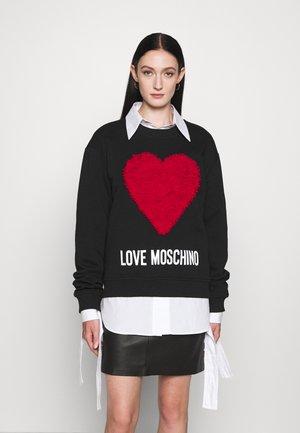 Sweatshirt - cuore rosso