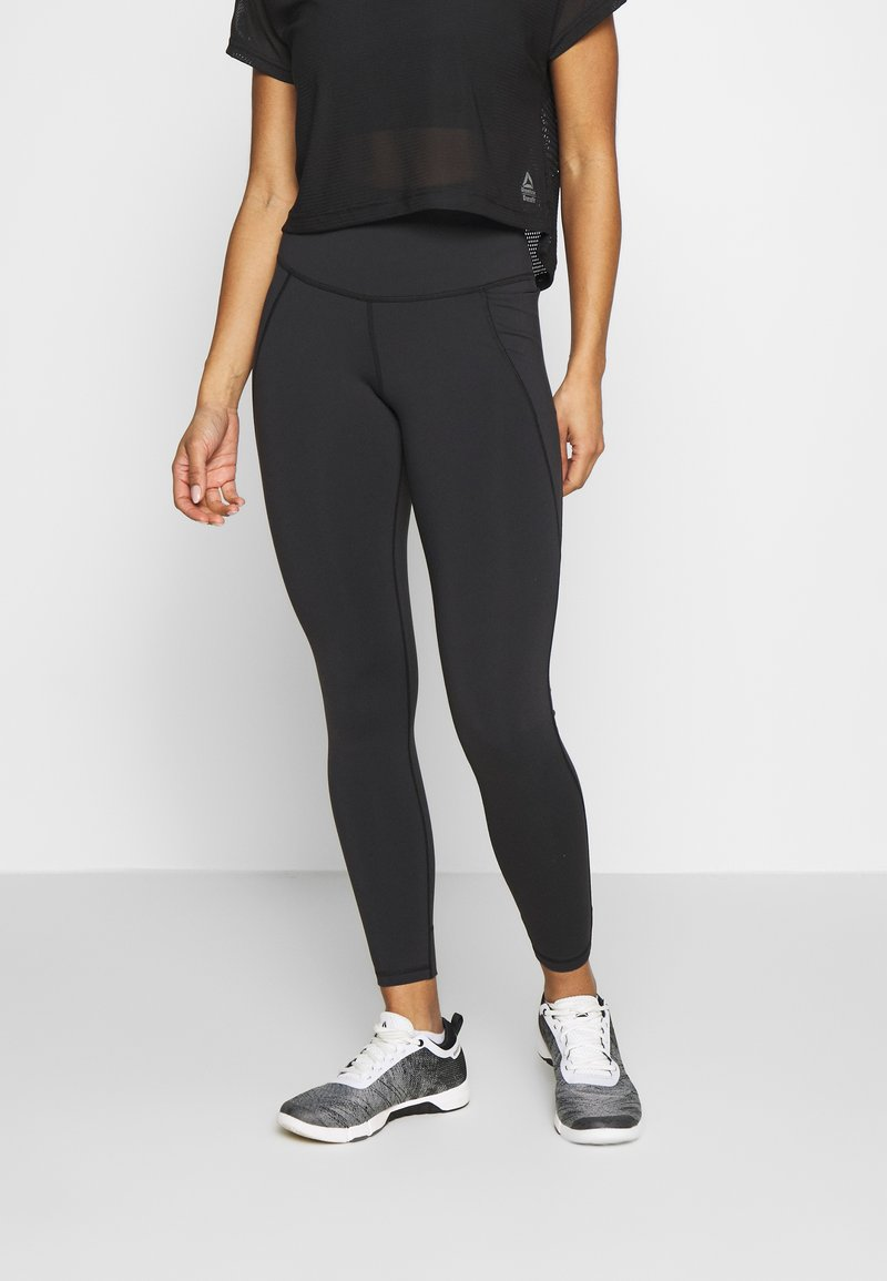 Reebok - LUX HIGHRISE - Leggings - black