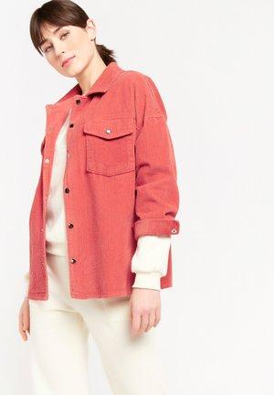 Button-down blouse - fuchsia