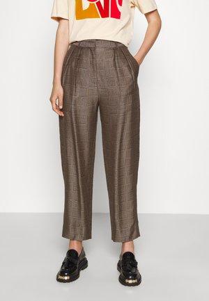Kalhoty - marron/noir