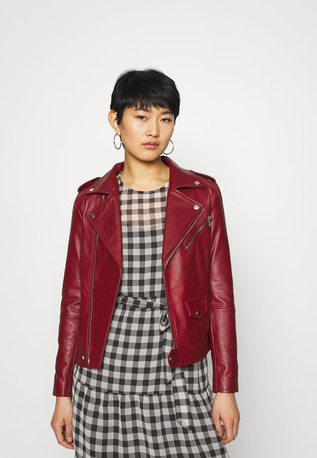 RIVER - Leather jacket - burgundy
